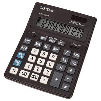Citizen Kalkulačka CDB1401-BK, černá, stolní, čtrnáctimístná