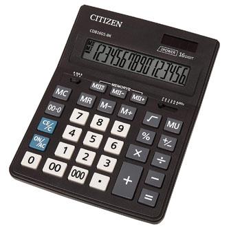 Citizen Kalkulačka CDB1601-BK, černá, stolní, šestnáctimístná