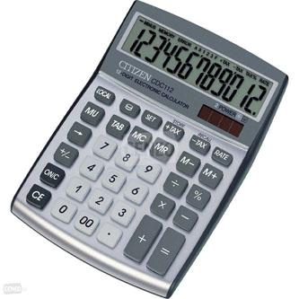 Citizen Kalkulačka CDC112WB, stříbrná, stolní, dvanáctimístná, automatické vypnutí