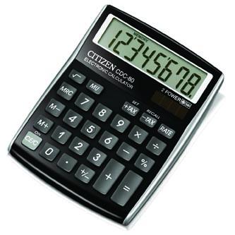 Citizen Kalkulačka CDC80BKWB, černá, stolní, osmimístná, automatické vypnutí
