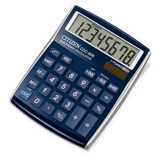 Citizen Kalkulačka CDC80BLWB, modrá, stolní, osmimístná, automatické vypnutí