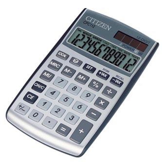 Citizen Kalkulačka CPC112WB, stříbrná, stolní, dvanáctimístná, automatické vypnutí