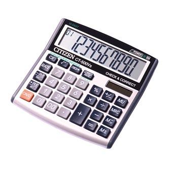 Citizen Kalkulačka CT500VII, šedá, stolní, desetimístná