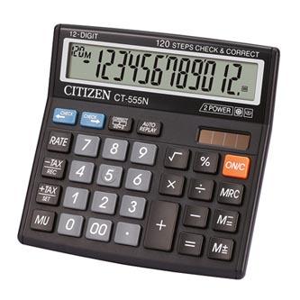 Citizen Kalkulačka CT555N, černá, stolní, dvanáctimístná