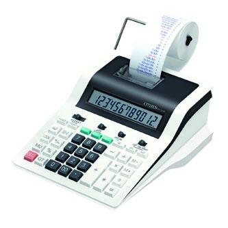Citizen Kalkulačka CX121N, bíločerná, dvanáctimístná s tiskem, dvoubarevný tisk