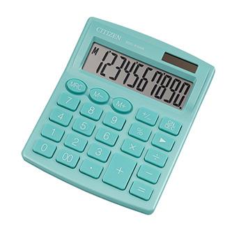 Citizen kalkulačka SDC810NRGNE, tyrkysová, stolní, desetimístná, duální napájení