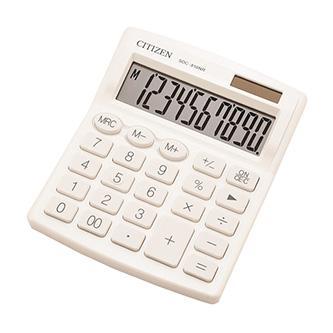 Citizen kalkulačka SDC810NRWHE, bílá, stolní, desetimístná, duální napájení