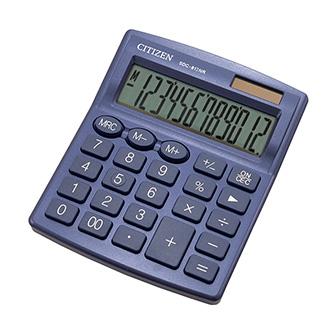 Citizen kalkulačka SDC812NRNVE, tmavě modrá, stolní, dvanáctimístná, duální napájení