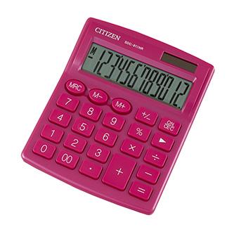 Citizen kalkulačka SDC812NRPKE, růžová, stolní, dvanáctimístná, duální napájení