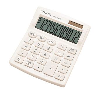 Citizen kalkulačka SDC812NRWHE, bílá, stolní, dvanáctimístná, duální napájení