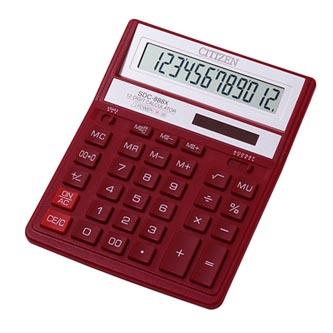 Citizen Kalkulačka SDC888XRD, červená, stolní, dvanáctimístná