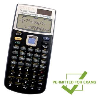 Kalkulačka Citizen, SR270XCFS, černá, vědecká, desetimístná