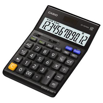 Casio Kalkulačka DF 120 TER II BK, černá, stolní, dvanáctimístná