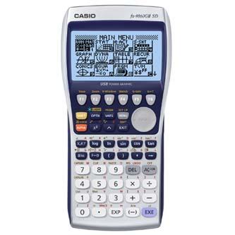 Kalkulačka Casio, FX 9860 GII SD, modrá, grafická s rozšířením paměti SD kartou