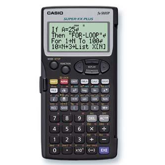 Casio Kalkulačka FX 5800 P, černá, programovatelná, 4 řádkový displej