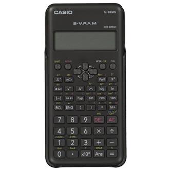 Casio kalkulačka FX 82 MS 2E, černá, školní, s dvouřádkovým displejem