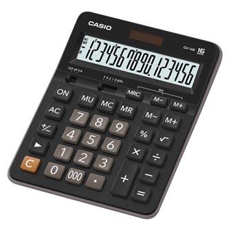 Casio Kalkulačka GX 16 B, černá, šestnáctimístná, duální napájení