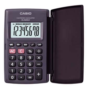 Casio Kalkulačka HL 820LV BK, černá, kapesní, osmimístná