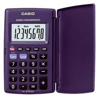 Casio Kalkulačka HL 820 VER, modrá, kapesní, osmimístná