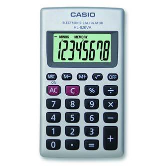 Casio Kalkulačka HL 820 VA, bílá, kapesní, osmimístná