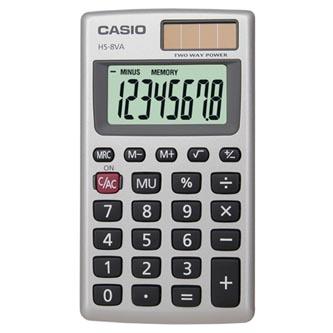 Casio Kalkulačka HS 8 VA, stříbrná, kapesní