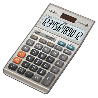 Kalkulačka Casio, JF 120 B M, stříbrná, stolní, dvanáctimístná