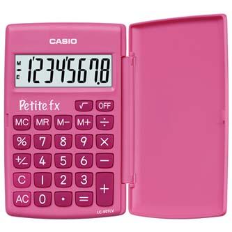 Casio Kalkulačka LC 401 LV PK, růžová, kapesní, osmimístná