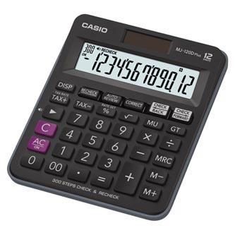 Casio Kalkulačka MJ 120 D PLUS, černá, stolní