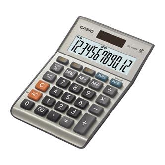 Casio Kalkulačka MS 120 B MS, stříbrná, stolní s výpočtem DPH, marže, procent včetně zisku
