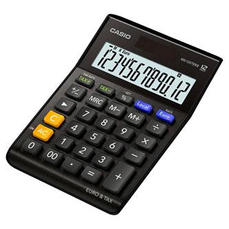 Casio Kalkulačka MS 120 TER II BK, černá, stolní
