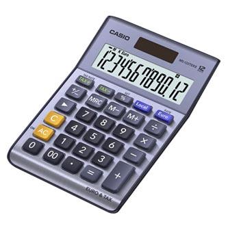 Casio Kalkulačka MS 120 TER II, stříbrná, stolní