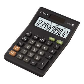Casio Kalkulačka MS 20 B S, černá, stolní s výpočtem DPH, dvanáctimístná