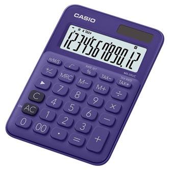 Casio Kalkulačka MS 20 UC PL, fialová, dvanáctimístná, duální napájení