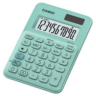 Casio Kalkulačka MS 7 UC GN, tyrkysová, desetimístná, duální napájení