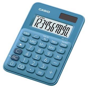 Casio Kalkulačka MS 7 UC BU, modrá, desetimístná, duální napájení