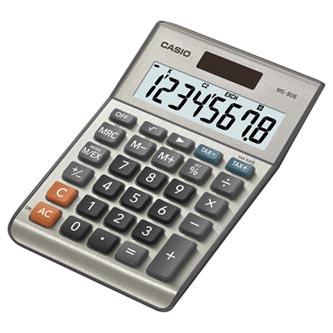 Casio Kalkulačka MS 80 B S, stříbrná, stolní s převodem měn, výpočtem DPH,% včetně zisku