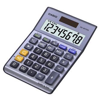 Casio Kalkulačka MS 88 TER II, šedá, stolní