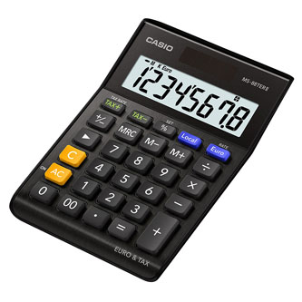 Casio Kalkulačka MS 88 TER II BK, černá, stolní