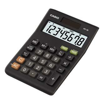 Casio Kalkulačka MS 8 B S, černá, stolní s výpočtem DPH, osmimístná