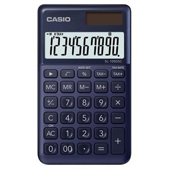 Casio Kalkulačka SL 1000 SC NY, modrá, desetimístná, duální napájení