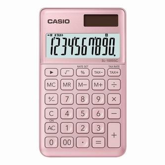 Casio Kalkulačka SL 1000 SC PK, zlatá, desetimístná, duální napájení
