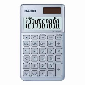 Casio Kalkulačka SL 1000 SC BU, stříbrná, desetimístná, duální napájení