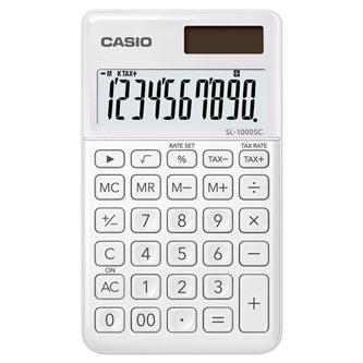 Casio Kalkulačka SL 1000 SC WE, bílá, desetimístná, duální napájení