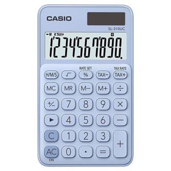 Casio Kalkulačka SL 310 UC LB, světle modrá, desetimístná, duální napájení