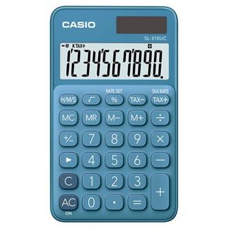 Casio Kalkulačka SL 310 UC BU, modrá, desetimístná, duální napájení