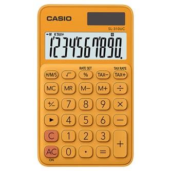 Casio Kalkulačka SL 310 UC RG, oranžová, desetimístná, duální napájení