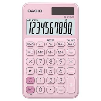 Casio Kalkulačka SL 310 UC PK, růžová, desetimístná, duální napájení