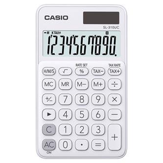 Casio Kalkulačka SL 310 UC WE, bílá, kapesní, desetimístná, duální napájení