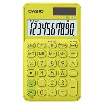 Casio Kalkulačka SL 310 UC YG, žlutá, kapesní, desetimístná, duální napájení