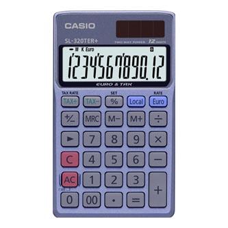Casio Kalkulačka SL 320 TER+, stříbrná, stolní s převodem měn, výpočtem DPH, výpočtem %